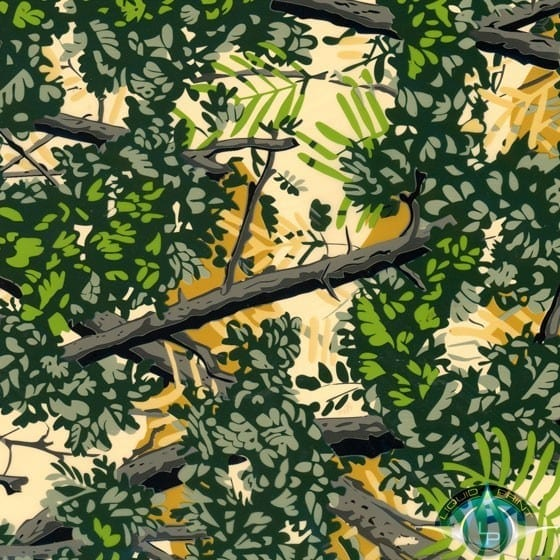 Bushlan Green Camouflage Film-RC-400